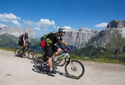 Mountainbiker unterwegs.