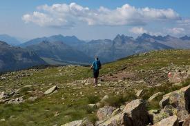 Wanderer auf dem Col Margherita.