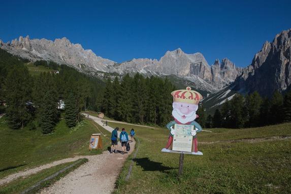 Wandern rund um König Laurins Rosengarten.