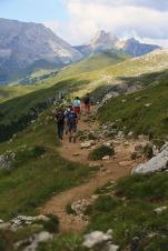 Wandern in den Dolomiten.